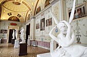 Kiss of Cupid and Psyche, statue by Antonio Canova, Hermitage Museum, St. Petersburg, Russia, Europe
