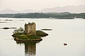 Castle Stalker, Portnacroish, west coast, Scotland, United Kingdom, Europe