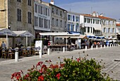 Harbour quayside, La Flotte, Ile de Re, Charente-Maritime, France, Europe