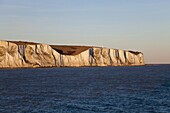 White cliffs of Dover viewed from cross channel ferry,  Kent,  England,  United Kingdom,  Europe