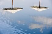 Reflection of Umbrellas, Maldives