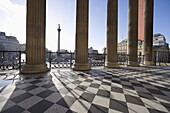 Trafalgar Square from the National Gallery, London, England, United Kingdom, Europe