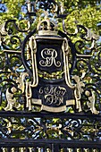 Close up detail of Queens Gate, Queen Marys Gardens, Regents Park, London, England, United Kingdom, Europe
