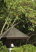 Meditation at the Spa Village, Pangkor Laut Resort, Pangkor Laut, Malaysia, Southeast Asia, Asia