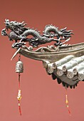 Temple detail, Thian Hock Keng Temple, Chinatown, Singapore, South East Asia