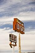 Lo Gas sign, Mojave desert, California, United States of America, North America