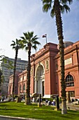 Exterior, The Museum of Egyptian Antiquities (Egyptian Museum), Cairo, Egypt, North Africa, Africa