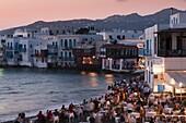 Little Venice, Mykonos Town, Chora, Mykonos, Cyclades, Greek Islands, Greece, Europe