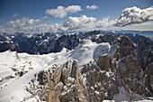 Ski mountaineering, Pale di San Martino, Cima Fradusta ascent, Dolomites, Trentino-Alto Adige, Italy