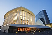 Philharmonie concert hall, modern architecture of the EU district on Kirchberg Plateau, Luxembourg City, Grand Duchy of Luxembourg, Europe