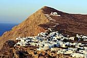 Panagia Kimissis monastery, Kastro, The Chora village, Folegandros, Cyclades Islands, Greek Islands, Aegean Sea, Greece, Europe