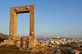 Gateway, Temple of Apollo, at the archaeological site, Naxos, Cyclades Islands, Greek Islands, Greece, Europe