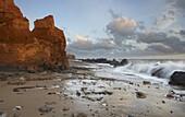 The heavily sea eroded coastline at Happisburgh, Norfolk, England, United Kingdom, Europe