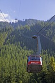 Skyride cable car up to the top of Grouse Mountain, Vancouver, British Columbia, Canada, North America