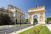 The Arc de Triomphe, Rue Foch, Montpellier, Languedoc-Roussillon, France, Europe