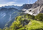 View from the top of Sleme, Julian Alps, Gorenjska, Slovenia, Europe