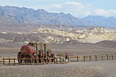 Old Carts, Harmony Borax Works, Death Valley, California, United States of America, North America