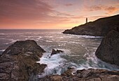Sunrise at Trevose Head on the North Cornish coast, Cornwall, England, United Kingdom, Europe