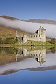 Ruins of Kilchurn Castle on Loch Awe, Argyll and Bute, Scotland, United Kingdom, Europe