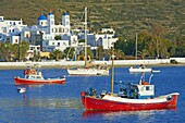 Katapola port, Amorgos, Cyclades, Aegean, Greek Islands, Greece, Europe