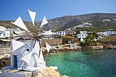 Aigiali town and port, Amorgos, Cyclades, Aegean, Greek Islands, Greece, Europe