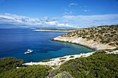 Natural swimming pool, Donoussa, Cyclades, Aegean, Greek Islands, Greece, Europe