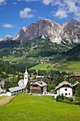 Corvara and Sass Songher Mountain, Badia Valley, Bolzano Province, Trentino-Alto Adige/South Tyrol, Italian Dolomites, Italy, Europe