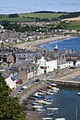 Stonehaven Harbour from Harbour View, Stonehaven, Aberdeenshire, Scotland, United Kingdom, Europe