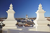 View of Sucre from rooftop of Convento de San Felipe Neri, Sucre, UNESCO World Heritage Site, Bolivia, South America
