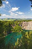 Lake at Meisterstein, Rothaargebirge, Sauerland region, North Rhine-Westphalia, Germany