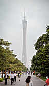 iconic tv tower of Guangzhou, Guangdong province, Pearl River Delta, China