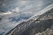 gondola at the Hintertux Glacier, Zillertal, Tyrol, Austria, Alps