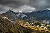 view of the mountain hut from Hintertux Glacier, Zillertal, Tyrol, Austria, Alps