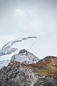 Ski piste at Hintertux Glacier, Zillertal, Tyrol, Austria, Alps