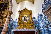 Tiles (Azulejos) in the Igreja da Misericordia church, Tavira, Algarve, Portugal