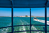 Ferry boat to Armona island, Olhao, Algarve, Portugal