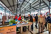 Fish market in the market hall, Loule, Algarve, Portugal