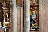 Interior view, church Igreja Matriz, Alvor, Algarve, Portugal