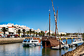 Excursion boat for dolphin watching, Lagos, Algarve, Portugal