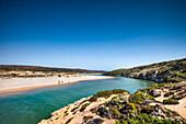 Lagoon, Praia da Amoreira, Aljezur, Costa Vicentina, Algarve, Portugal