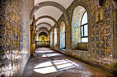 Cloister, regional museum in monastery Nossa Senhora da Conceicao, Beja, Alentejo, Portugal