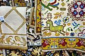 Traditional handmade carpets, Arraiolos, Alentejo, Portugal