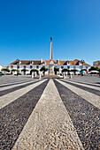 Obelisk on the town square, Vila Real de Santo Antonio, Algarve, Portugal