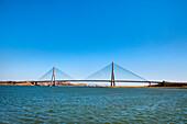 Guadiana bridge between Portugal and Spain, Guadiana river, Algarve, Portugal
