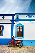 Moped, Cacela Velha, Algarve, Portugal
