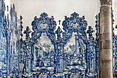Tiles (Azulejos) in the church Igreja da Misericordia, Tavira, Algarve, Portugal