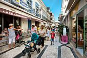 Pedestrian zone, Rua de Comercio, Olhao, Algarve, Portugal