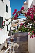 View towards the main square, Largo Engenheiro Duarte Pacheco, Albufeira, Algarve, Portugal