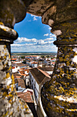View from the roof of the cathedral, Evora, Alentejo, Portugal
