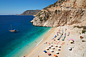 Kaputas beach, near Kalkan, Lycia, Antalya Province, Mediterranean Coast, Southwest Turkey, Anatolia, Turkey, Asia Minor, Eurasia